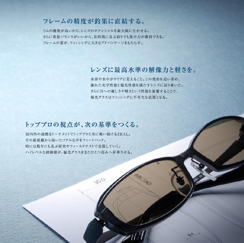 ZEALハイブリッドアイウェアFeiz・Feiz Alt TALEX偏光レンズ・マスターブルー搭載モデル入荷!_c0003493_1425539.jpg