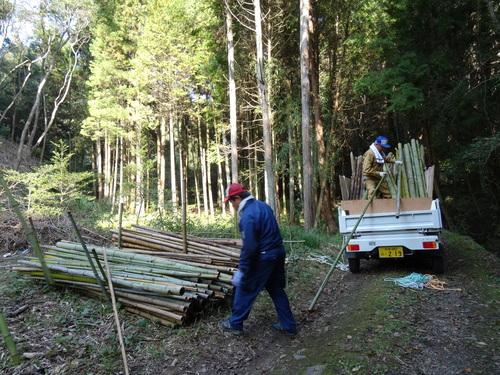 孝子の竹林整備が終了しました・・・定例活動日_c0108460_23273595.jpg
