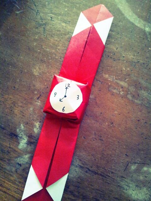 クリスマス 折り紙 折り紙 腕時計 : hiyokozzzz.exblog.jp