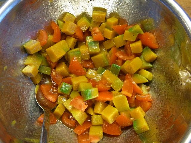 秋かぼちゃのベーコンチップサラダ★ Insalata di zucca_b0246303_23251834.jpg