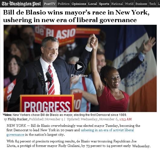 ニューヨーク市の次の市長さんは、ビル・デブラシオさん(Bill de Blasio)_b0007805_22523419.jpg