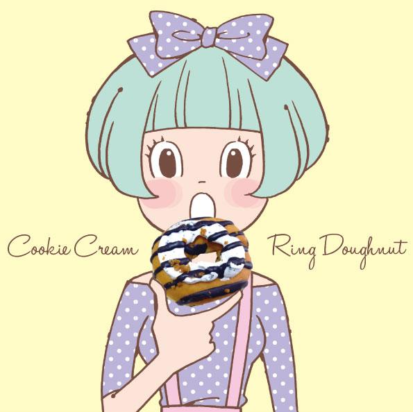ファミマのクッキークリームリングドーナツ_d0272182_22174988.jpg