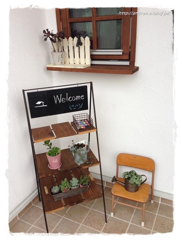 【玄関】 多肉植物と幼稚園椅子_c0176271_23183817.jpg