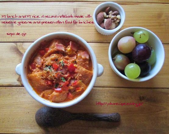 イエシゴトVol.14 ☆部 干しパプリカで貧乏人のスープ「sopa de ajo」と干し野菜基本事項_e0274872_08410021.jpg