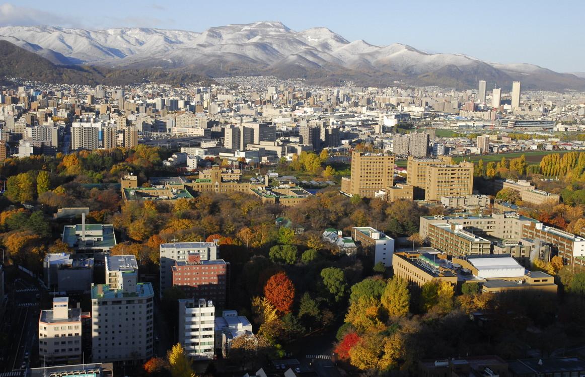 2013年11月 Nov. 2013  『初冬、北海道大学・手稲山  Hokkaido University, Beginning of the winter』_c0219616_21335364.jpg
