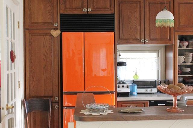 オレンジ色の冷蔵庫が出来上がりました(^^♪_a0213806_17355436.jpg