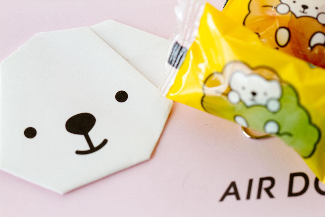 AIRDOベアドゥ 搭乗記念折り紙とキャンディ_a0016730_2314488.jpg