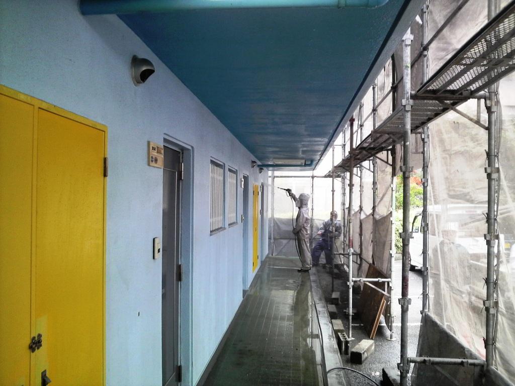 高圧洗浄 Lマンション_c0209036_20223452.jpg