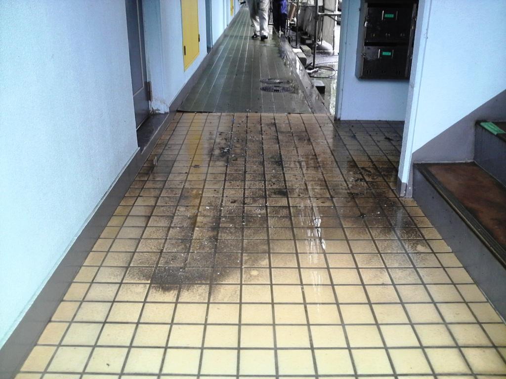高圧洗浄 Lマンション_c0209036_20223494.jpg