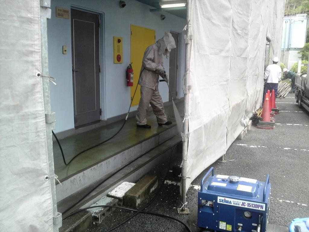 高圧洗浄 Lマンション_c0209036_20271214.jpg
