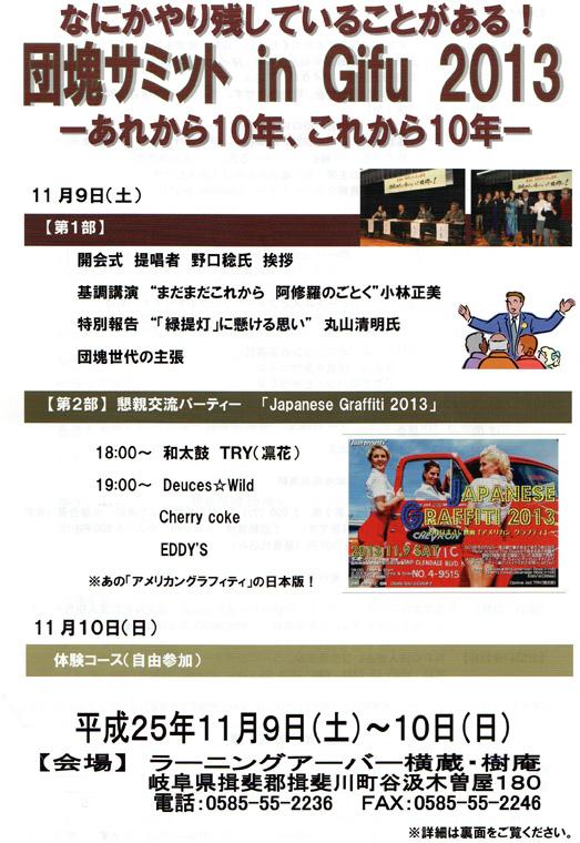 まだまだこれから阿修羅のごとく団塊サミットin Gifu 2013①_c0014967_22351173.jpg