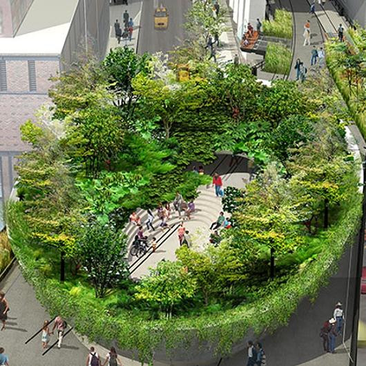 NYの空中公園ハイラインに新設されるボール型ガーデン(The Spur)のデザイン公開_b0007805_22253580.jpg