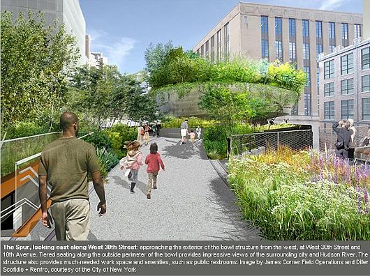 NYの空中公園ハイラインに新設されるボール型ガーデン(The Spur)のデザイン公開_b0007805_22263175.jpg