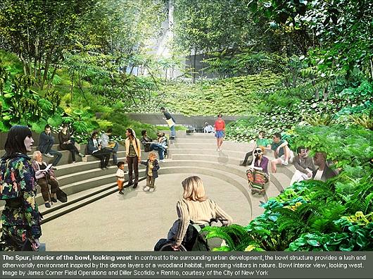 NYの空中公園ハイラインに新設されるボール型ガーデン(The Spur)のデザイン公開_b0007805_22264638.jpg