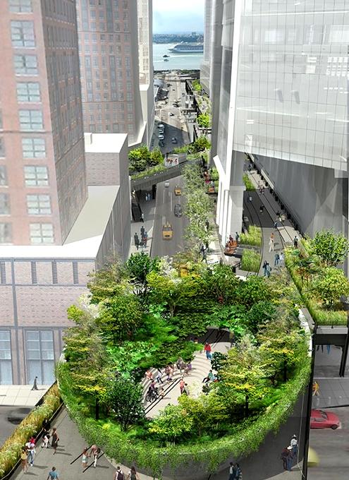 NYの空中公園ハイラインに新設されるボール型ガーデン(The Spur)のデザイン公開_b0007805_22271036.jpg