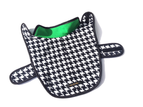 ILKARE Dog Jacket イルカレ ドッグジャケット ハウンド トゥース グリーン_d0217958_16564596.jpg