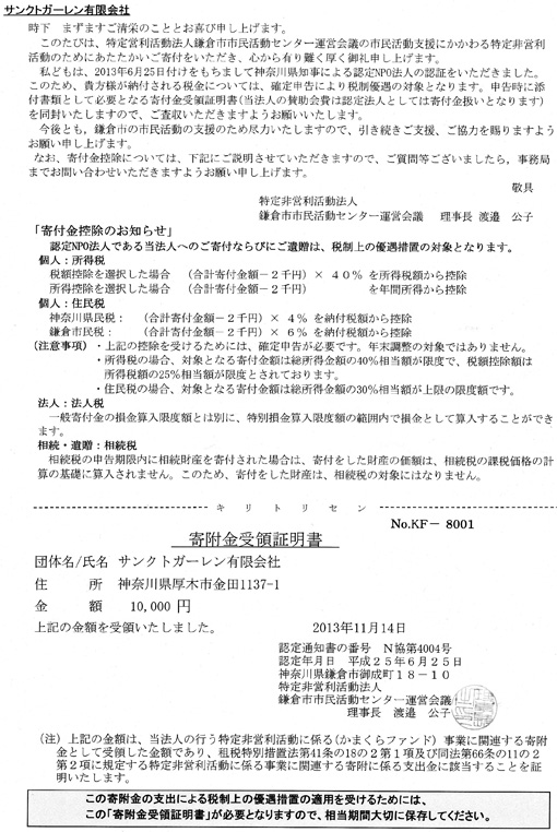 地ビール「北鎌倉の恵み」の初回の寄付額は29,864円 _c0014967_1814079.jpg
