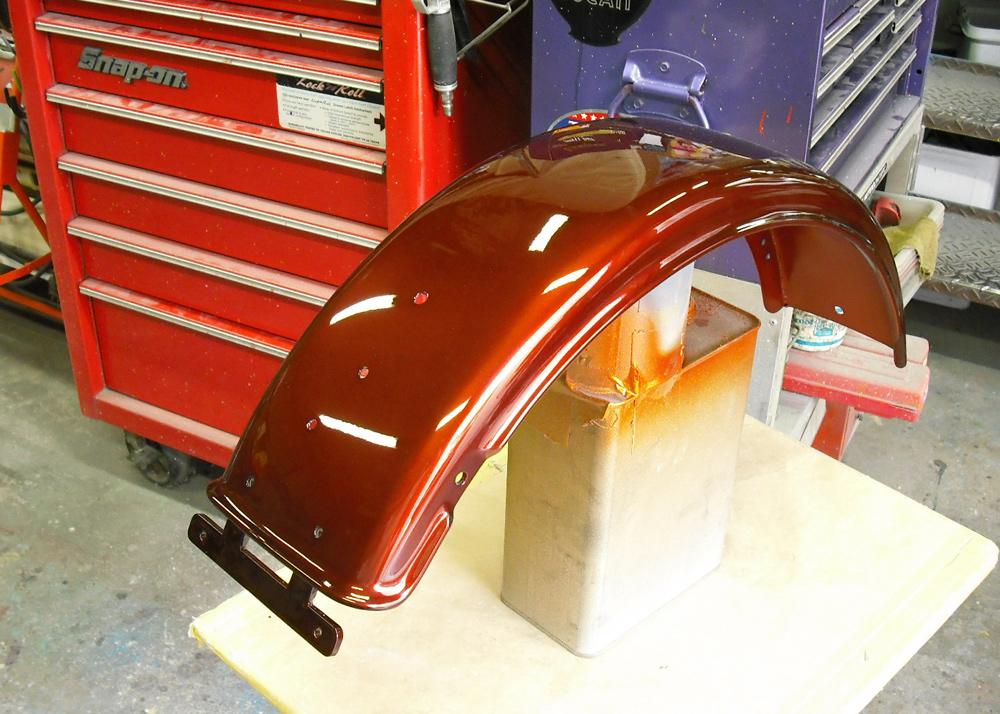 ハーレーチョッパーをウーロン茶色に塗ってみた。_d0130115_11441865.jpg