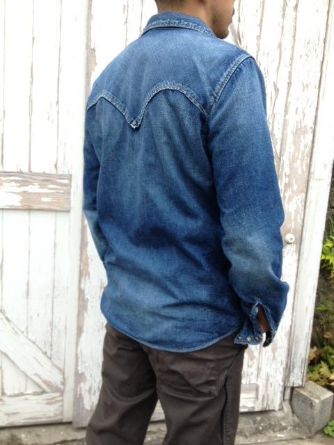 冬仕様のデニムシャツ作りました☆_d0108933_1935259.jpg