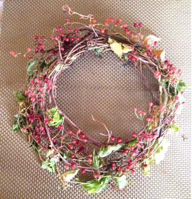 野ぶどうでクリスマスリース♪_e0086864_21224973.jpg