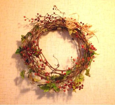 野ぶどうでクリスマスリース♪_e0086864_21225137.jpg