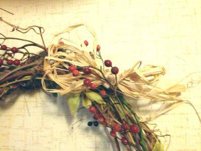 野ぶどうでクリスマスリース♪_e0086864_22144052.jpg