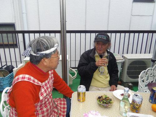 二の酉…画家・西村春海氏宅屋上でバーベキュー。_c0198869_2122162.jpg