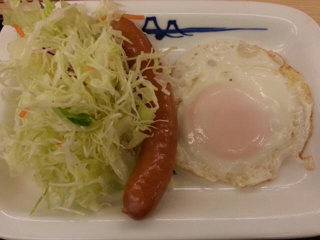 ソーセージエッグ定食¥390@松屋_b0042308_743719.jpg