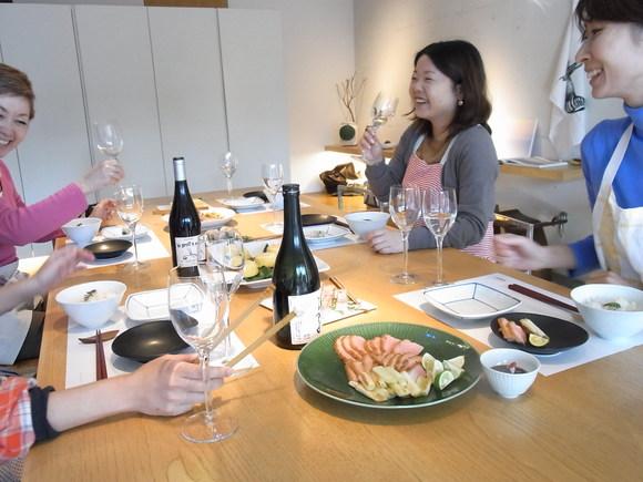"""ワイングラスで""""アレンジ和食""""のおもてなし         (記:藤本 洋子)_a0195310_1951564.jpg"""