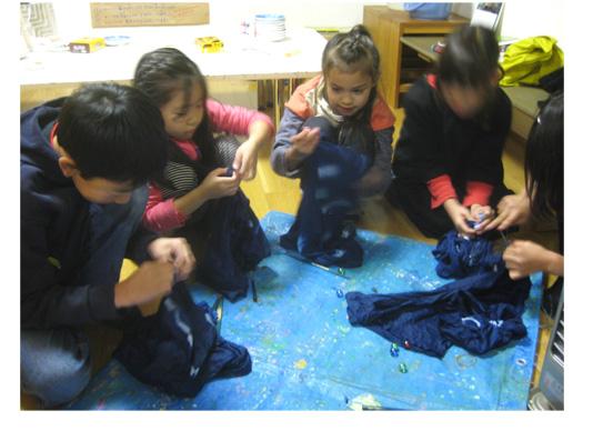 藍染め・幼 小クラス_f0211514_18461448.jpg