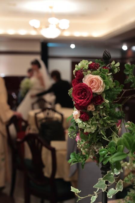 秋の装花 花嫁の誕生の瞬間 シェ松尾青山サロン様へ_a0042928_22311413.jpg