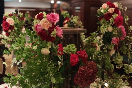 秋の装花 花嫁の誕生の瞬間 シェ松尾青山サロン様へ_a0042928_22314418.jpg