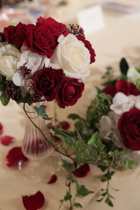 秋の装花 花嫁の誕生の瞬間 シェ松尾青山サロン様へ_a0042928_22323829.jpg