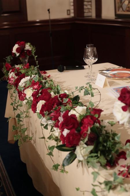 秋の装花 花嫁の誕生の瞬間 シェ松尾青山サロン様へ_a0042928_2232514.jpg