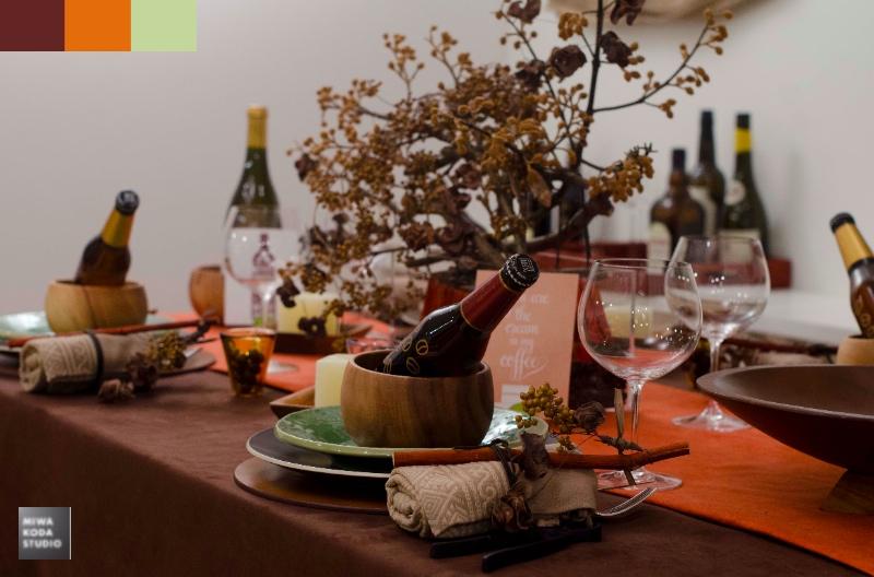 November 23, 2013 Thanksgivingのテーブル『色彩』Thanksgiving Dinner 'Color'_a0307186_17315970.jpg