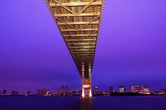 夜景 レインボーブリッジ ループ橋_b0145398_20555199.jpg