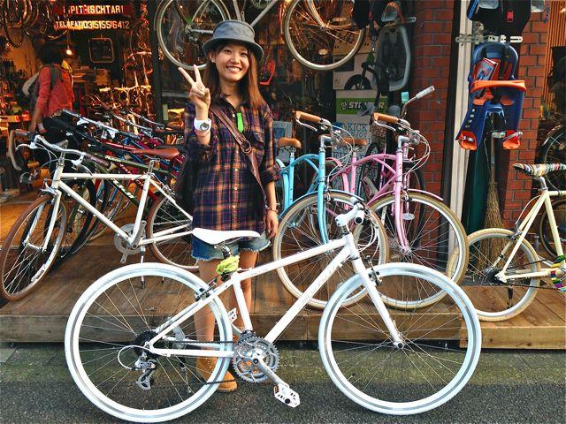 ... 本立て☆ 自転車 女子 おしゃれ