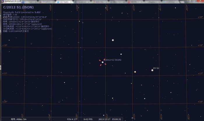 ラブジョイ彗星&アイソン彗星_e0089232_5493695.jpg