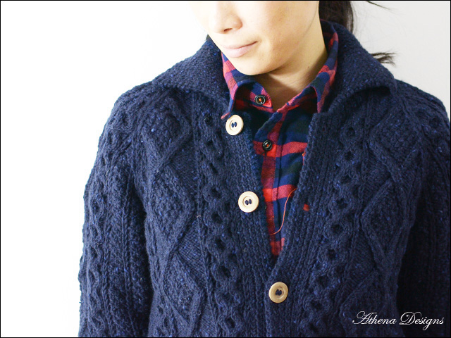 Athena Designs [アテナデザイン] 2s+CLR CARDIGAN WITH COLLAR_f0051306_18482449.jpg