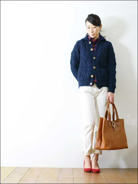 Athena Designs [アテナデザイン] 2s+CLR CARDIGAN WITH COLLAR_f0051306_18482628.jpg