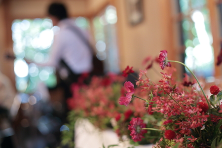 秋の装花 小さい頃、お花屋さんになりたかった夢 すいぎょく様へ_a0042928_113633100.jpg