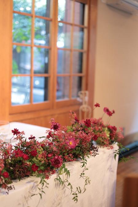 秋の装花 小さい頃、お花屋さんになりたかった夢 すいぎょく様へ_a0042928_11365094.jpg