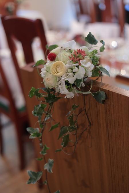 秋の装花 小さい頃、お花屋さんになりたかった夢 すいぎょく様へ_a0042928_1138749.jpg