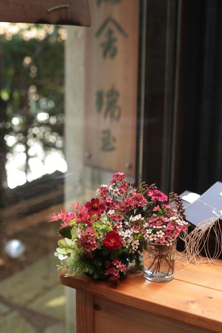 秋の装花 小さい頃、お花屋さんになりたかった夢 すいぎょく様へ_a0042928_1140213.jpg