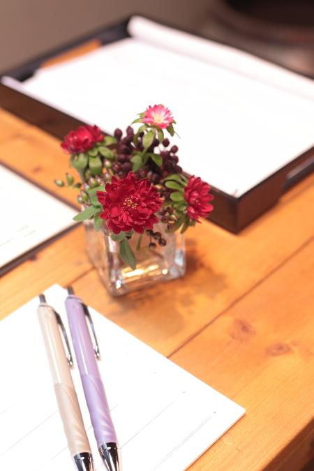 秋の装花 小さい頃、お花屋さんになりたかった夢 すいぎょく様へ_a0042928_1140641.jpg