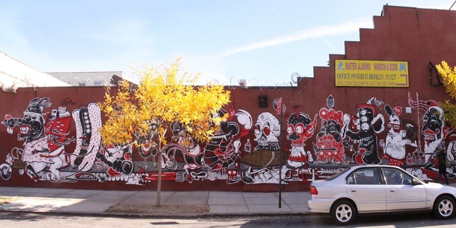 NYにあるエリア一帯がグラフィティの街、ブッシュウィック・コレクティブ(the Bushwick Collective)_b0007805_23322017.jpg