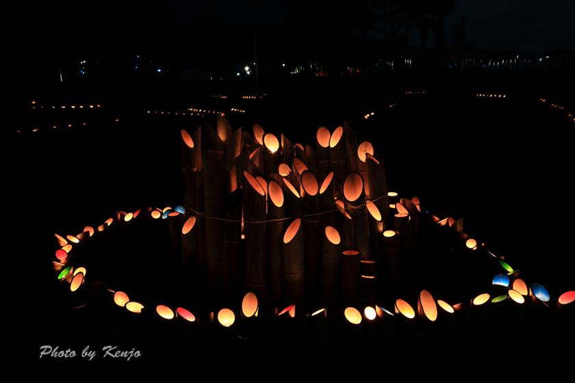 ミリカの竹灯篭。。_a0097006_21565872.jpg