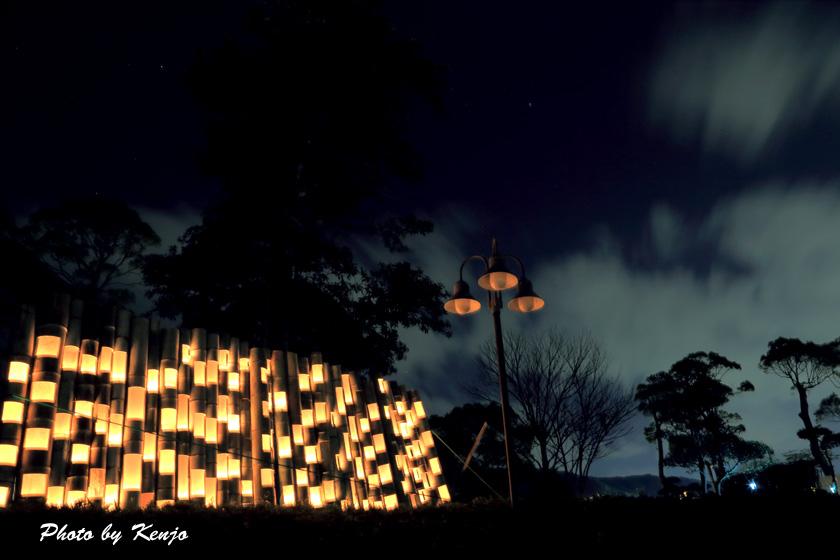 ミリカの竹灯篭。。_a0097006_21581481.jpg