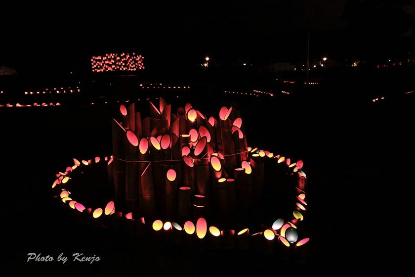 ミリカの竹灯篭。。_a0097006_2211295.jpg