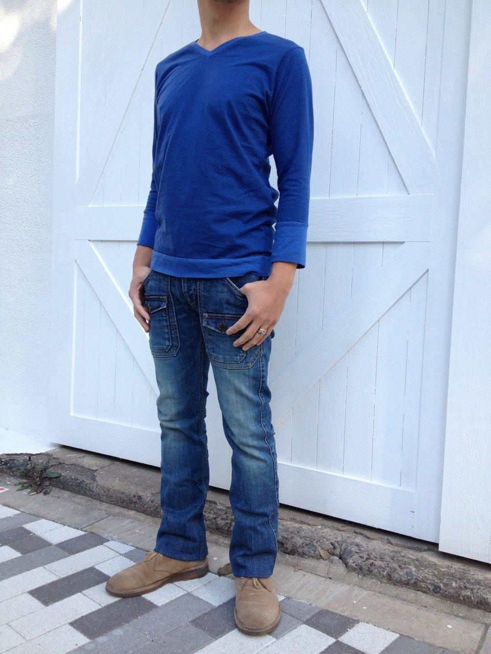 パワーストーン ラピスラズリで染めた七分袖Tシャツ☆_d0108933_18356100.jpg